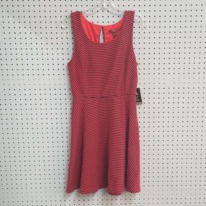 Express Red and Navy Stripe Dress